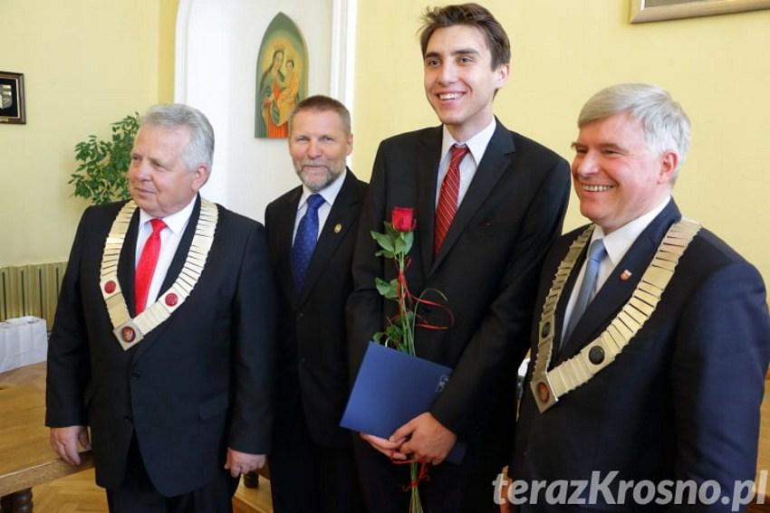 Kacper Żaromski po raz drugi otrzymał Nagrodę Prezydenta Miasta Krosna