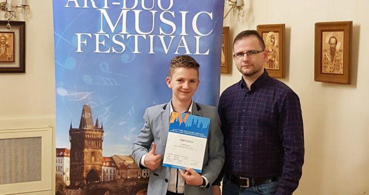 Akordeonista z Pruchnika na podium w Pradze