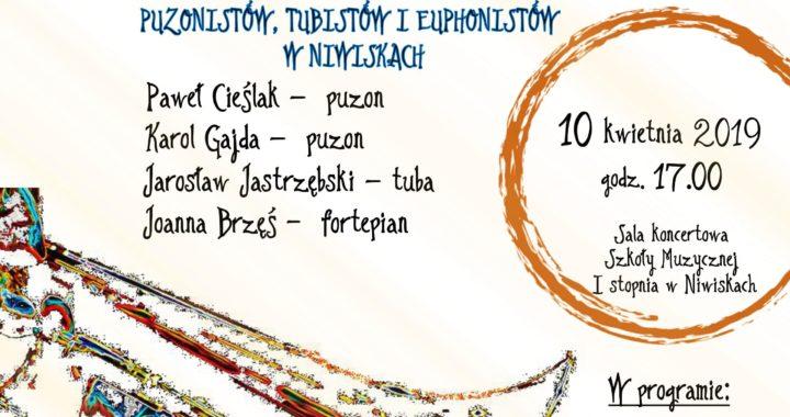 Koncert w Ramach III MAKROREGIONALNEGO KONKURSU PUZONISTÓW, TUBISTÓW I EUPHONISTÓW