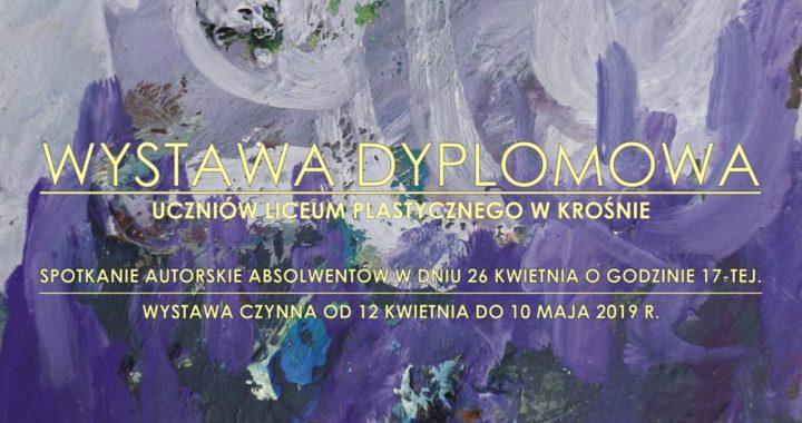 """Wystawa dyplomowa 2019 uczniów krośnieńskiego """"plastyka"""" w Biurze Wystaw Artystycznych"""
