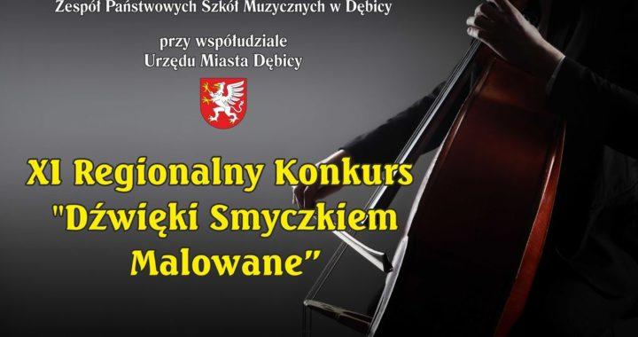 """ZMIANA REGULAMINU – XI Regionalny Konkurs Skrzypcowy Wiolonczelowy Kontrabasowy """"Dźwięki Smyczkiem Malowane"""""""