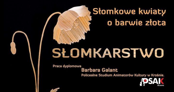 Wystawa dyplomowa Barbary Galant – Słomkarstwo