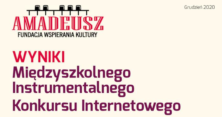 Wyniki Międzyszkolnego Instrumentalnego Konkursu Internetowego