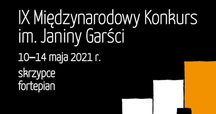 Inauguracja IX Międzynarodowego Konkursu im. Janiny Garści 2021